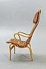 "Bruno mathsson, armchair, ""eva hög"", second half of the 20th century."