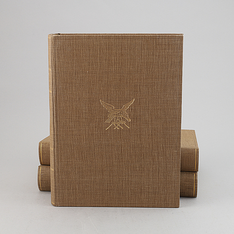 """Bröderna von wright , bokverk, 3 band, """"svenska fåglar"""", börtzells tryckeri ab, stockholm, 1927-1929."""