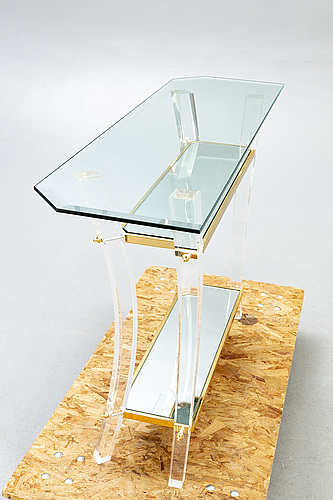 A lexi mess glass and plexi sideboard  netherlands later part of the 20th century.