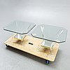 Lexi mess a pair of plexi and glass sideborads netherlands later part of the 20th century.