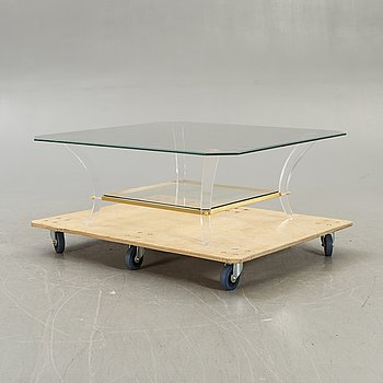A Lexi Mess plexi and glass coffee table later part of the 20th century.