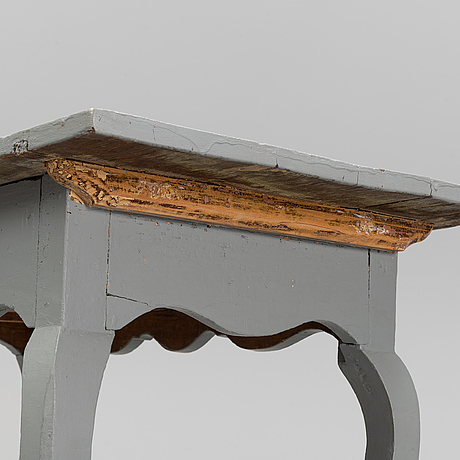 A painted rococo table, 18th century.