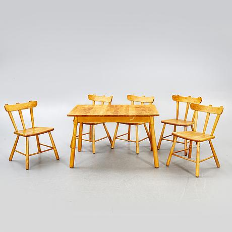 A swedish 1940s six pcs dining suit.