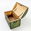 A swedish painted chest dated 1848.