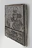 A cast iron stove plate, first half of the 19th century.