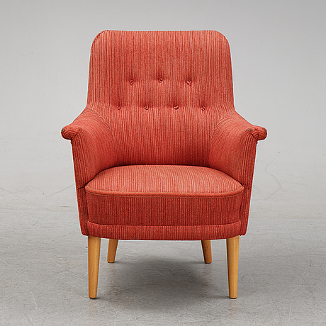 A 'samsas' easy chair by carl malmsten for oh sjögren, second half of the 20th century.
