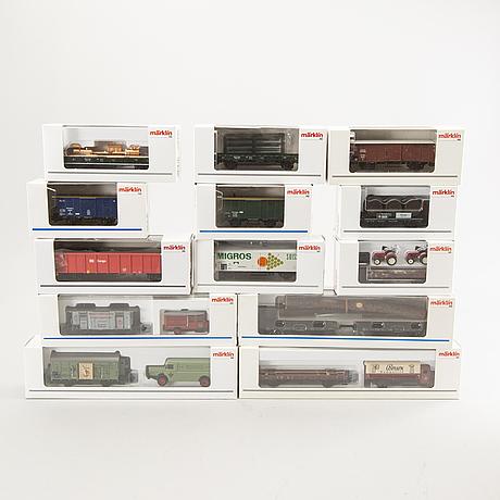 23 märklin freight cars.