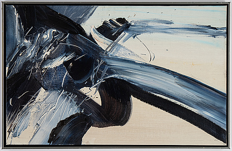 Sven inge höglund, oil on canvas, signed and dated -85 verso.