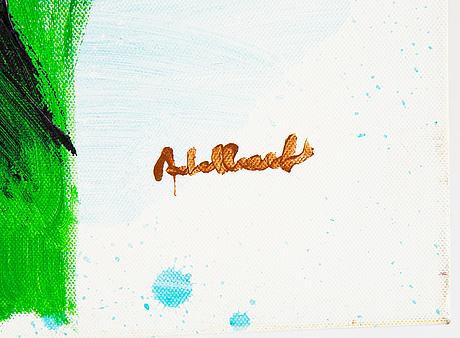 Per adalbert von rosen, acrylic on canvas, signed.