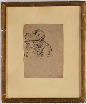 Carl August Ehrensvärd, ink wash, signed Ehrensvärd.
