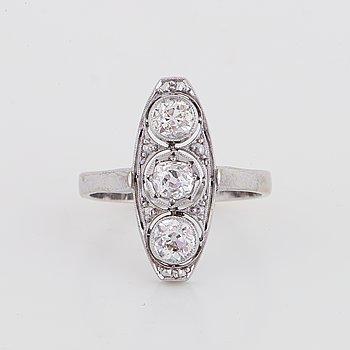 Old cut diamond ring.