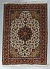 A rug, old tabriz, part silk, ca204 x 152 cm.