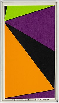 Olle Baertling, silkscreen, 1962-1968, signed and numbered 250/300.