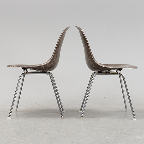 Two 'dsx' chairs by charles and ray eames for herman miller, second half of the 20th century.