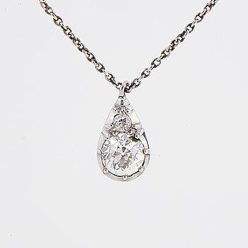Old cut diamond pendant.