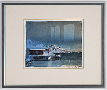 Lars Lerin, watercolor, signed and dated -95.