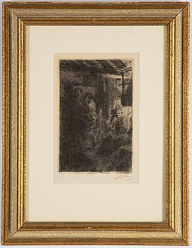 Anders Zorn, etching, 1917, signed.
