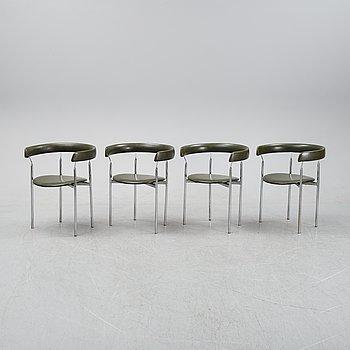 Four armchairs by Jan Lunde Knudsen for Karl Sörlie söner, 1960's.