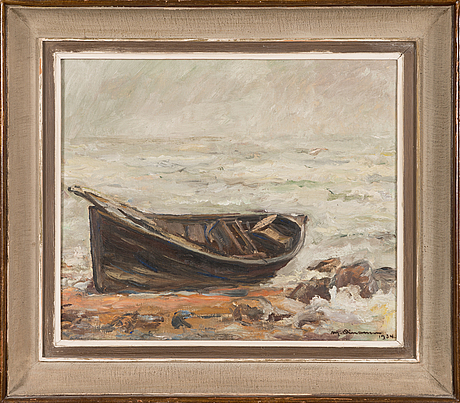 Mikko oinonen, oil on canvas, signed and dated -34.