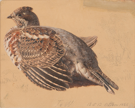 Ferdinand von wright, oil on board, signed and dated 12-13 october 1866.