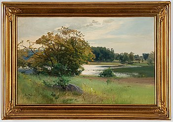Alfred Thörne, oil on canvas, signed and dated 1907.