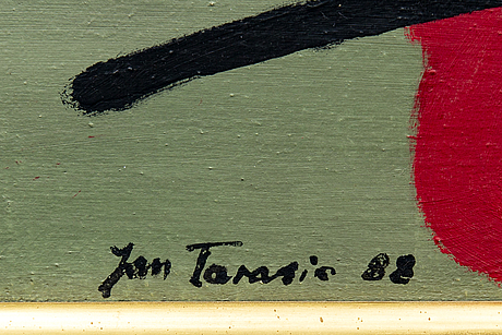 Jan tarasin, oil on canvas signed and verso dated 1988.