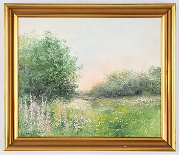 Inge Pettersson, oil on canvas, signed.