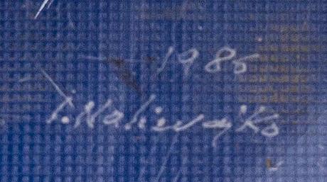 Jan naliwajko, sculpture, signed and dated 1986.