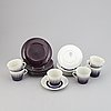 A coffee service, twelve pcs 'astra', by eugen trost, gefle upsala-ekeby.