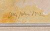 Olli joki, olja på pannå, signerad och daterad -92.