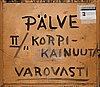 Veikko aaltona, oil on board, signed and dated pälve -40.
