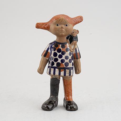A 'pippi' stoneware figurine by lisa larson for gustavsberg.