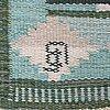 A carpet, flat weave, ca 203,5 x 138,5 cm, indistinct signature.