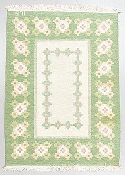 A carpet, flat weave, ca 189 x 136,5-139,5 cm, signed ILS.