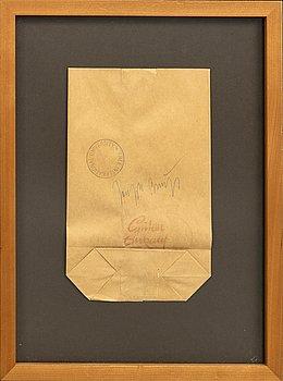 Joseph Beuys, object trouvé, / multipel, signed 1970s-80s.