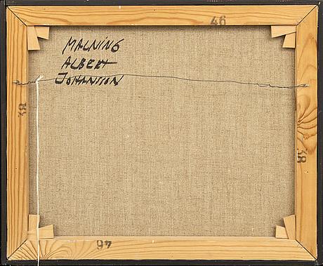 Albert johansson, olja på duk, signerad.