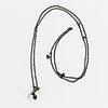 """Ole lynggaard, charlotte lynggaard, """"lotus"""" pendant, with chain, sterlingsilver."""