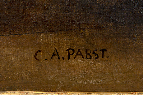 Camille alfred pabst, a signed oil on canvas.