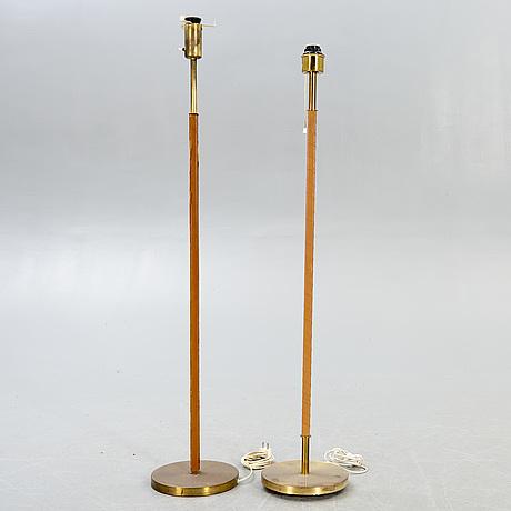 Floor lamps, 2 pcs, asea, mid-20th century, sweden.