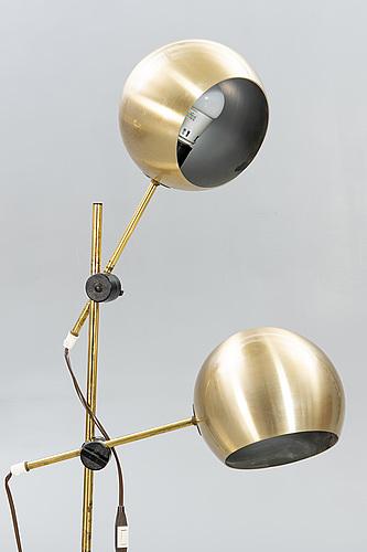 "Floor lamps, 2 pcs, ""hemi globe"", second half of the 20th century."