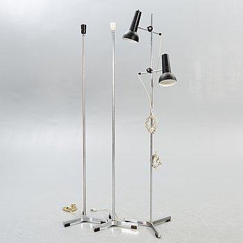 Jo Hammerborg, floor lamps, 3 pcs, Fog Mörup, 1960s-70s.