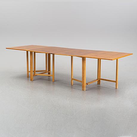 A 'maria flap' gateleg table by bruno mathsson for firma karl mathsson, 1964.