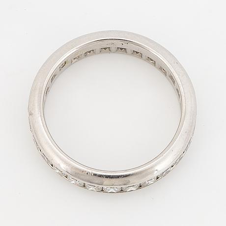 Tiffany & co, lucida diamond eternity band ring, platinum.