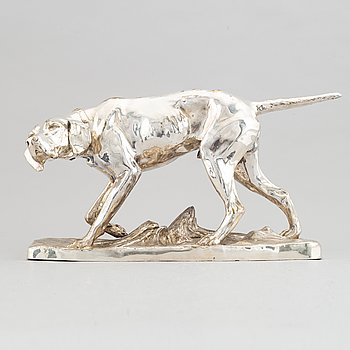 Wilhelm Zwick, signerad. Sculpture. Metal. Height 28 cm. Length 49 cm.