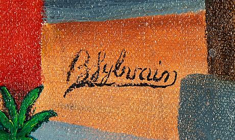 Bien-aime sylvain, oil on canvas, signed.