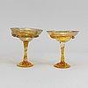 Five champagne glasses/glasses by gunilla kihlgren.
