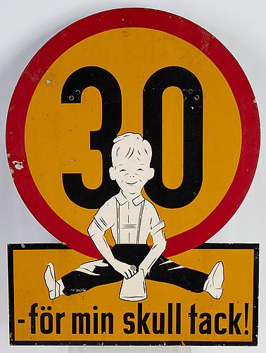 A swedish mid 20th century road sign.
