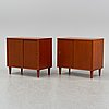 A pair of teak cabinets, 1950's/60's.