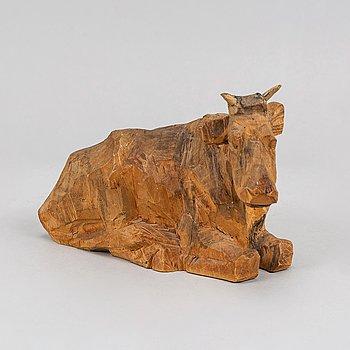 Axel Petersson Döderhultarn, skulptur, snidat trä, stämpelsignerad.