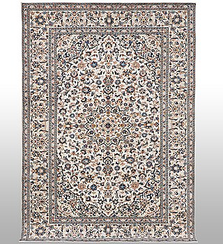 A carpet, Kashan, 303 x 191 cm.